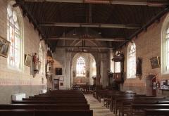 Eglise paroissiale Sainte-Eulalie - Deutsch: Genillé im Département Indre-et-Loire/Frankreich - Kirche Sainte-Eulalie, Innenraum