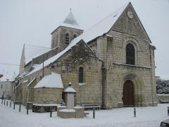 Eglise paroissiale Saint-Gilles - Français:   L\'Ile-Bouchard - Eglise Saint-Gilles sous la neige