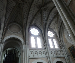 Eglise paroissiale Saint-Jean-Baptiste - L'église Saint Jean-Baptiste de Langeais (plafond)