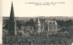 Eglise paroissiale Saint-Jean-Baptiste - Carte postale du château de Langeais (Indre-et-Loire, France)