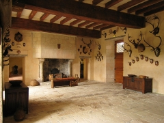Château du Rivau -  Former mediaeval Castle Le Rivau near the Loire river in France, great hall