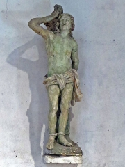 Eglise paroissiale Saint-Saturnin - Français:   Statue de Saint Sébastien -  XVIIe - Église Saint-Saturnin de Limeray - Indre-et-Loire - France