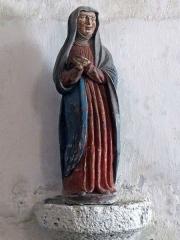 Eglise paroissiale Saint-Saturnin - Français:   Statue de Sainte Marthe - Fin XVe - Église Saint-Saturnin de Limeray - Indre-et-Loire - France
