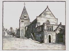 Eglise paroissiale Saint-Saturnin - Français:   Eglise de Limeray vers 1900 - Indre et Loire - France