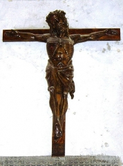Eglise paroissiale Saint-Saturnin -  Christ en croix XVIème siècle - Eglise de Limeray - Indre et Loire - France