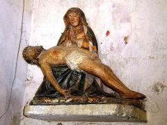 Eglise paroissiale Saint-Saturnin -  Pieta en pierre XVème siècle - Eglise de Limeray - Indre et Loire - France Classée le 12 mars 1907
