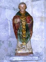 Eglise paroissiale Saint-Saturnin -  Saint inconnu avec livre 16ème siècle - Eglise de Limeray - Indre et Loire - France