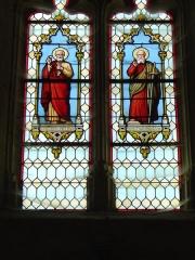 Eglise paroissiale Saint-Saturnin - English: Vitraux Saint Pierre et Saint Paul - Eglise de Limeray - Indre et Loire - France