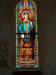 Eglise paroissiale Saint-Saturnin - Français:   Vitrail Saint Saturnin - Eglise de Limeray - Indre et Loire - France