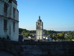 Ancienne église Saint-Antoine - English: Saint Antoine Tower, seen from Loches Castle