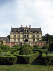 Domaine de la Bourdaisière - Deutsch: Schloss La Bourdaisière, Gartenseite