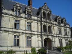 Domaine de la Bourdaisière - English: Façade of the castle