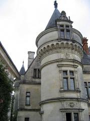 Domaine de la Bourdaisière - English: A tower of the château de la Bourdaisière, a French château in Montlouis in the Loire Valley