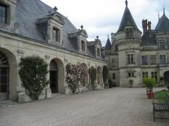 Domaine de la Bourdaisière - English: Court yard of the château de La Bourdaisière.