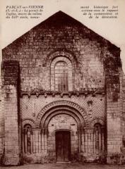 Eglise paroissiale Saint-Pierre - Portail de l'église de Parçay-sur-Vienne.