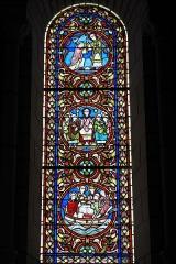 Eglise abbatiale bénédictine Saint-Pierre - Deutsch:   Ehemalige Abteikirche Saint-Pierre in Preuilly-sur-Claise im Département Indre-et-Loire (Centre-Val de Loire/Frankreich), Bleiglasfenster