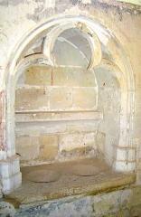 Ancienne église Notre-Dame - Ido: Piscine liturgique de l'église Notre Dame de Rigny