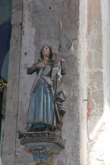 Eglise Notre-Dame - English: statue of Jeanne d'Arc in the church of Rivière (Indre-et-Loire) in France