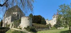 Ancien château - Français:   Église et château de Sainte-Maure-de-Touraine