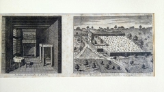 Maison de Rabelais, actuellement Musée de la Devinière - Français:   Gravure (1699). Plus ancienne vue connue de La Devinière
