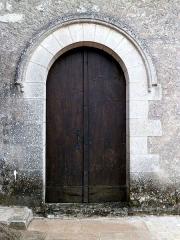 Eglise paroissiale Saint-Martin - Français:   porte nord de l\'église Saint-Martin de Sublaines