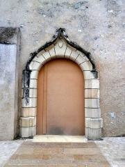 Eglise paroissiale Saint-Martin - Français:   porte ouest de l\'église Saint-Martin de Sublaines