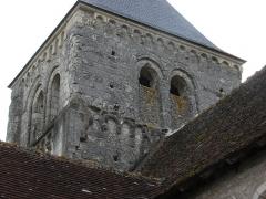 Eglise paroissiale Saint-Martin - English: Church Saint-Martin of Sublaines: the church tower (France, département of Indre-et-Loire)