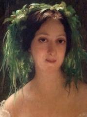 Ancien archevêché, actuellement musée des Beaux-Arts - Deutsch: Ernest Hébert (1817–1908): Die Schauspielerin Jeanne Arnould-Plessy (1819–1897), Detail. Musée des Beaux-Arts de Tours.