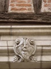 Maison, ou Hôtel Binet - Français:   Mascaron de l\'hôtel Binet à Tours