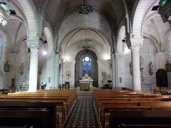 Eglise paroissiale Saint-Maixent - Français:   Vue intérieure de la nef de l\'église Saint-Maixent de Veigné