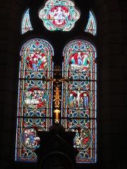 Eglise paroissiale Saint-Maixent - Français:   Veigné (Indre-et-Loire) église, vitrail 01