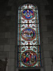 Eglise paroissiale Saint-Maixent - Français:   Veigné (Indre-et-Loire) église, vitrail 02