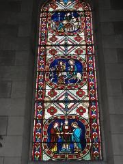 Eglise paroissiale Saint-Maixent - Français:   Veigné (Indre-et-Loire) église, vitrail 03