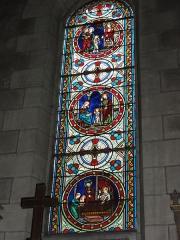 Eglise paroissiale Saint-Maixent - Français:   Veigné (Indre-et-Loire) église, vitrail 04
