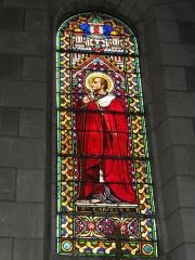 Eglise paroissiale Saint-Maixent - Français:   Veigné (Indre-et-Loire) église, vitrail 05