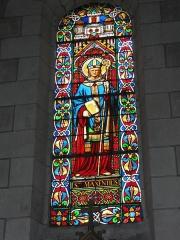 Eglise paroissiale Saint-Maixent - Français:   Veigné (Indre-et-Loire) église, vitrail 06