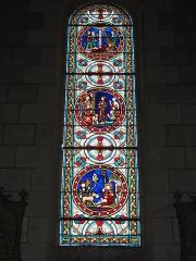 Eglise paroissiale Saint-Maixent - Français:   Veigné (Indre-et-Loire) église, vitrail 07