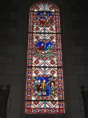 Eglise paroissiale Saint-Maixent - Français:   Veigné (Indre-et-Loire) église, vitrail 08