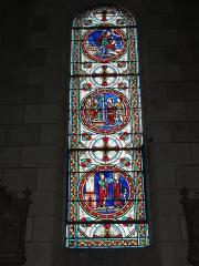 Eglise paroissiale Saint-Maixent - Français:   Veigné (Indre-et-Loire) église, vitrail 09