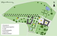 Château de Jallanges - Deutsch: Lageplan des Schlosses Jallanges