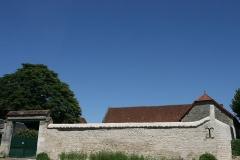 Ancienne abbaye Saint-Sauveur -  Mur et toi de l'ancienne grange de l'Abbaye Saint Sauveur de Villeloin à Villeloin-Coulangé.