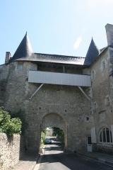 Ancienne abbaye Saint-Sauveur -  Porte (vue nord) de l'Abbaye Saint Sauveur de Villeloin à Villeloin-Coulangé.