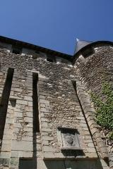 Ancienne abbaye Saint-Sauveur -  Porte (vue sud) de l'Abbaye Saint Sauveur de Villeloin à Villeloin-Coulangé.