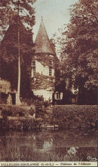 Ancienne abbaye Saint-Sauveur -  Carte postale ancienne de Villeloin-Coulangé en Indre-et-Loire.  Vue de l'ancienne Abbaye Saint-Sauveur de Villeloin.