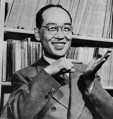 Château de Boisbonnard -  Japanese physicist Hideki Yukawa is seen in April 1951 in Japan.