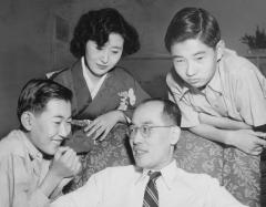 Château de Boisbonnard -  Hideki Yukawa together with his family