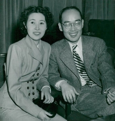Château de Boisbonnard -  Hideki Yukawa with his wife Simiko