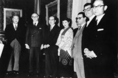Château de Boisbonnard - Español: El 8 de diciembre de 1958, Rolando García visitó al entonces presidente Frondizi, junto al premio Nobel de Física, Hideki Yukawa.