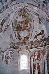 Eglise Notre-Dame - Deutsch: Fresken im Chor der Kirche Notre-Dame in Areines, 12. Jhd.