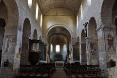 Eglise Saint-Genest - Français:   Eglise de Lavardin, intérieur (41)